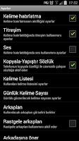 Screenshot of English Turkish Flash Card