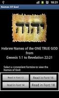 Screenshot of Names Of God