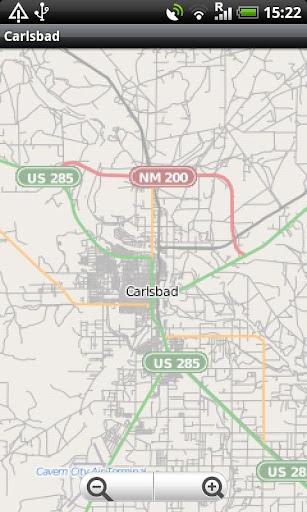 Carlsbad NM Street Map