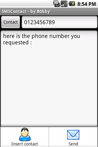 B SMS Contact