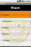 Screenshot of Blagues