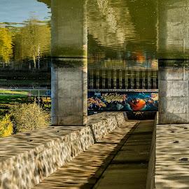 Morning Reflecions by David Sheilds - Buildings & Architecture Bridges & Suspended Structures ( ireland, creative, morning glory, bridge, flip, river,  )