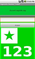 Screenshot of Esperanto Numbers Trainer