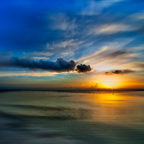 Cancun sunrise by Cristobal Garciaferro Rubio - Digital Art Places