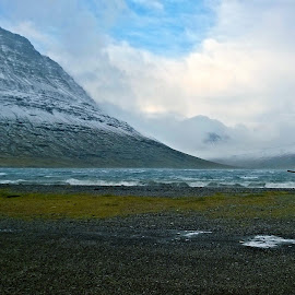 Windy day by Þórlindur Magnússon - Landscapes Weather ( wind, iceland, mountain, boat, fjord )