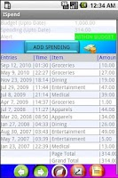 Screenshot of ISpend (Spending Monitor)