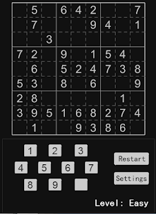 Math games, Sudoku (Sudoku) - screenshot