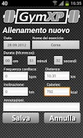 Screenshot of GymXP - versione italiana