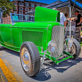 Blacktop Nationals - Green Rod by Ron Meyers - Transportation Automobiles