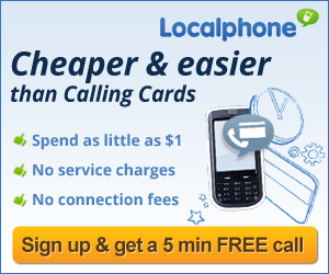 international calls, calling card, Localphone, make cheap calls abroad