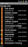 Screenshot of Orange Line Live MBTA Tracker