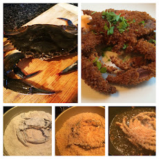 Panko Crusted Soft-shell Crabs with Sriracha Mayo