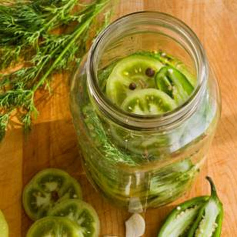Spicy Green Tomato Pickles