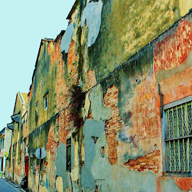 Street scenes at Penang. by Low Leong - City,  Street & Park  Street Scenes ( holiday, street, abandoned )
