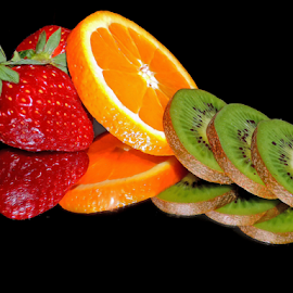 orange,kiwi and srawberry by LADOCKi Elvira - Food & Drink Fruits & Vegetables ( orange, fruits )