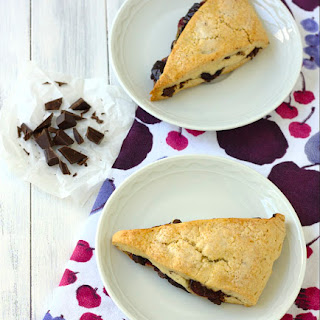 Dark Chocolate Cherry Scones
