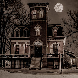 Haunted Mansion by Ann Day - Buildings & Architecture Homes ( scary, mansion, haunted )