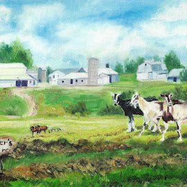 Miller's Farm by Patty Bingham - Painting All Painting ( amish farm )