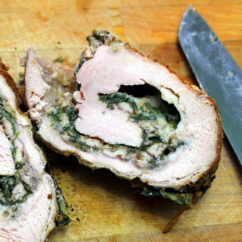 Spiral Stuffed Spinach Pork Loin