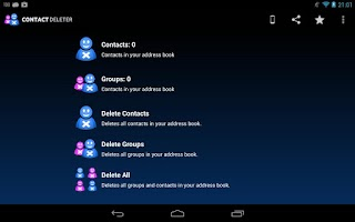 Screenshot of Delete Contacts