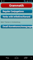 Screenshot of English Verbs