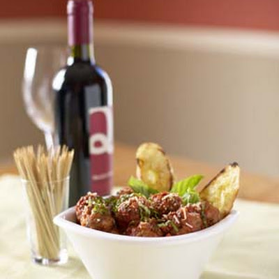 LITTLE MEATBALLS WITH MELTED FONTINA CENTERS