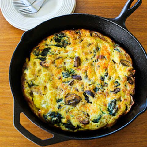 Mushroom Lover's Frittata with Spinach and Cheese