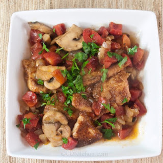 Beer-Braised Tilapia With Mushrooms And Tomatoes