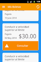 Screenshot of Mis Boletas - Panamá