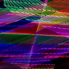 Array of light ! by Jim Barton - Abstract Patterns ( laser light, colorful, light design, laser design, laser, laser light show, array of light, light, science )