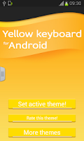 Screenshot of Keyboard for Android Yellow