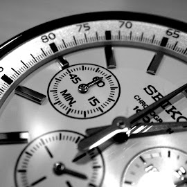 Time you enjoyed wasting is not wasted time by Amol Verma - Artistic Objects Clothing & Accessories ( enjoyed, time, wasted, black and white, watch, objects )