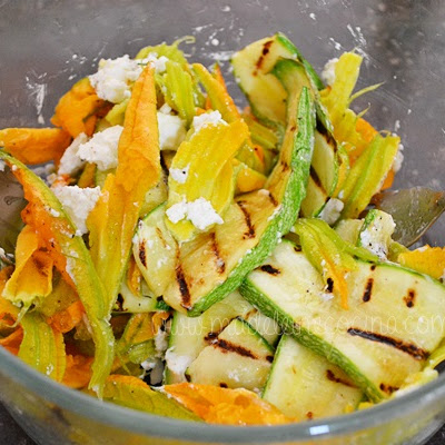 Zucchini Salad with Cream Cheese