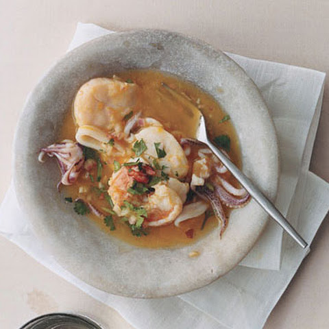 "Scallop, Shrimp, and Squid ""Ceviche"""