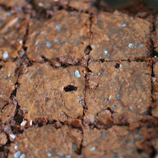 Mocha Brownies with Sea Salt