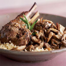Spring Lamb Chops on Oyster Mushrooms