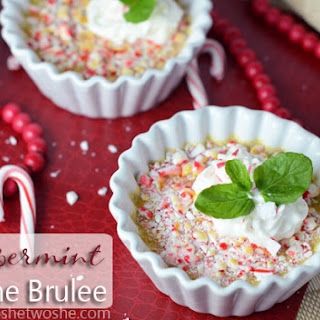 Peppermint Creme Brulee ~ The Perfect Christmas Dessert!
