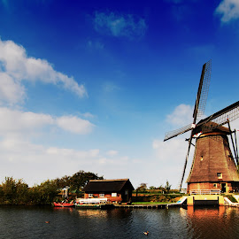 Windmill by Punjul Nugraha - Landscapes Travel ( landscape, windmill )