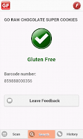 Screenshot of The Gluten Free Scanner