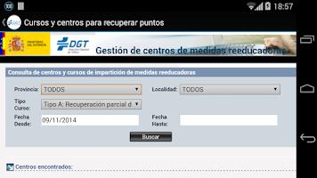 Screenshot of Puntos DGT