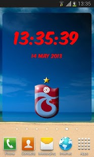 Digital Clock Trabzonspor - screenshot