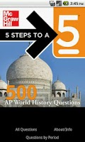 Screenshot of 500 AP World History Questions