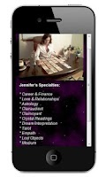 Screenshot of Psychic & Tarot by Jennifer
