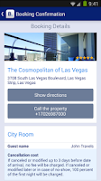 Screenshot of Booking.com Hotel Reservations