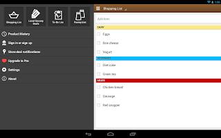 Screenshot of Out of Milk Shopping List