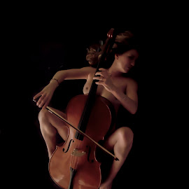 Sweet cellist by Cesare Riccardi - Nudes & Boudoir Artistic Nude ( music, fashion, nude, cellist, woman )