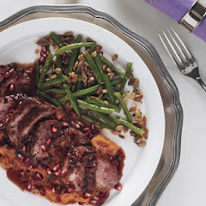 Roast Duck Breasts with Pomegranate-Chile Sauce