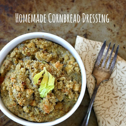 Homemade Southern-style Cornbread Dressing