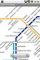 Screenshot of Rome MetroMap