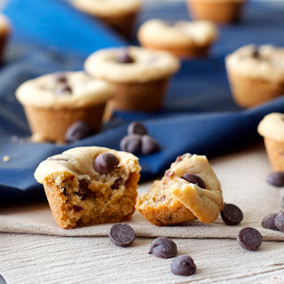 Mini Peanut Butter Chocolate Chip Cookie Cups